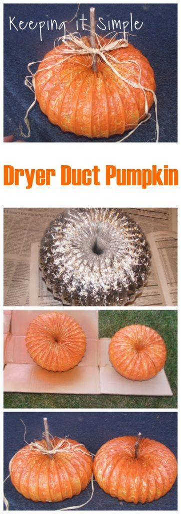 Dryer Duct Holiday Craft