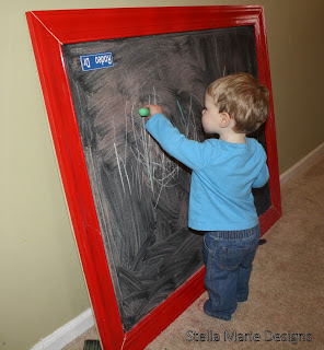 DIY oversized chalkboard tutoial