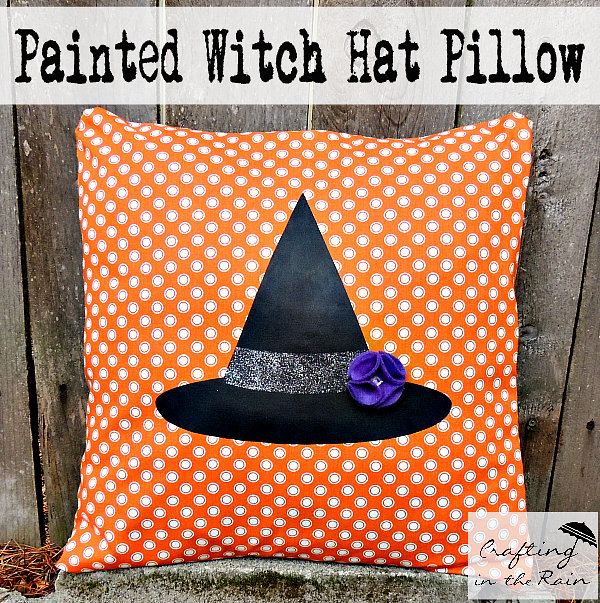 Witch Hat Pillow by Crafting in the Rain