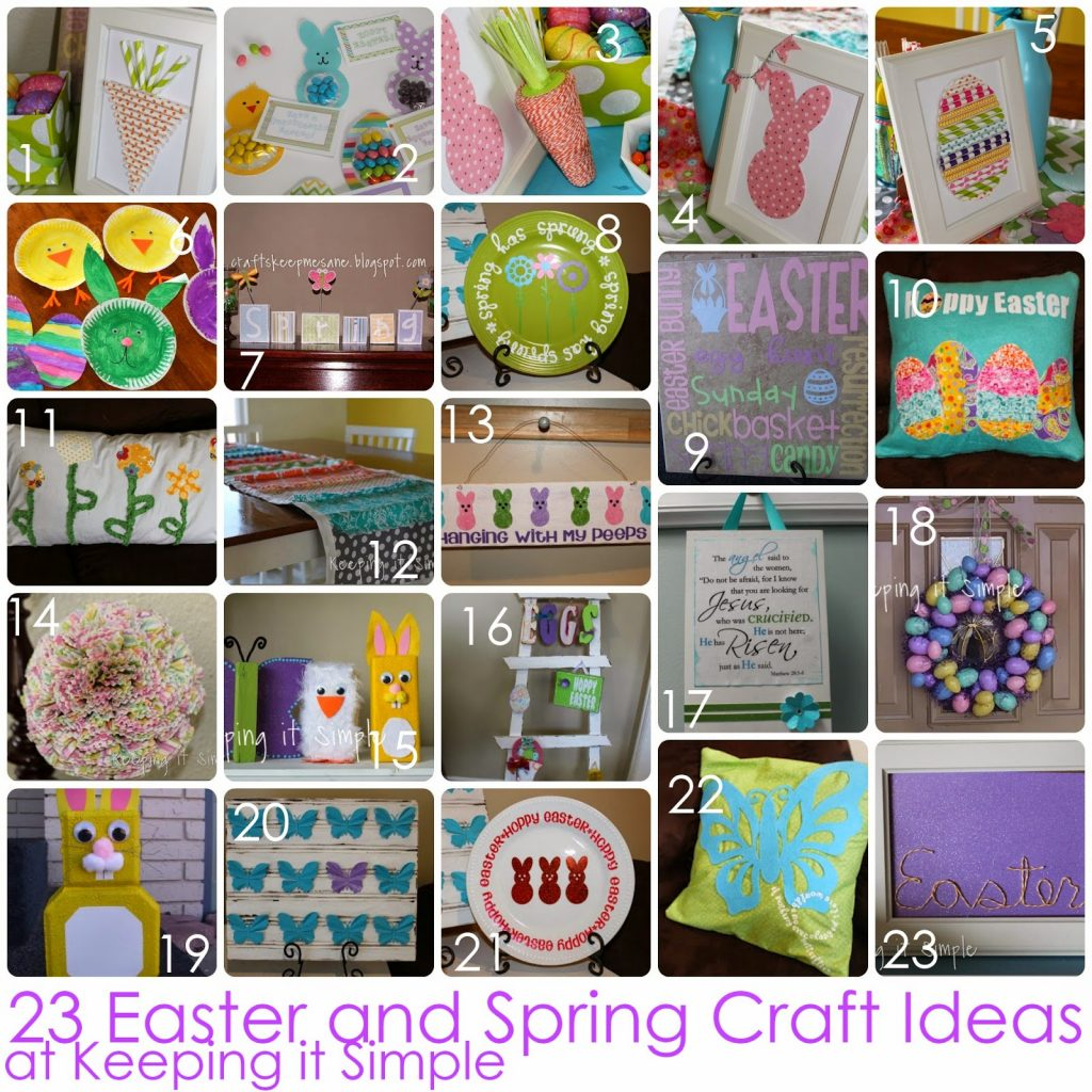 In The Past Four Years I Have Created A Lot Of Fun And Easy Easter Spring Crafts Heres Round Up Them All