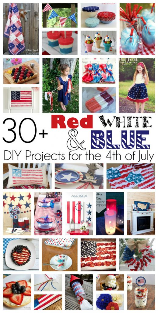 cd76f2f17e 30+ Red White and Blue DIY Projects for the 4th Of July  MMM  284 Block  Party