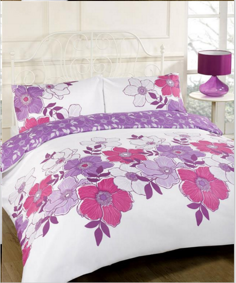 Great I just love it and I cannot wait to put it onto my little girl us bed if I had pink and purple in my room it would be going in my room for sure