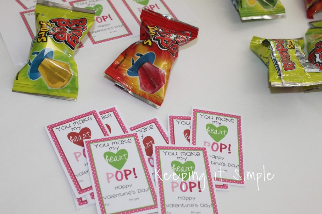 photo relating to You Make My Heart Pop Valentine Printable called Selfmade Valentines- Ring Pop Valentine with Printable