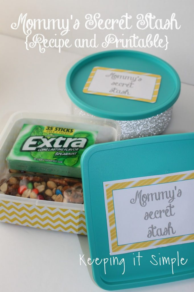 Mommy's Secret Stash Container Tutorial with Recipe and