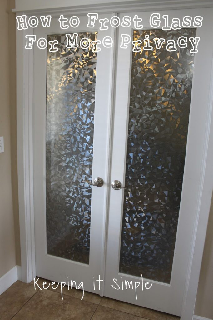 How to frost glass with vinyl for more privacy keeping it simple a year ago we turned my craft room into a bedroom for my oldest son and moved my new craft room into our formal dining room the glass doors werent a planetlyrics Image collections