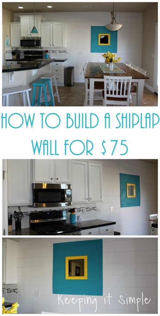 How to Build a Shiplap Wall for $75 • Keeping it Simple