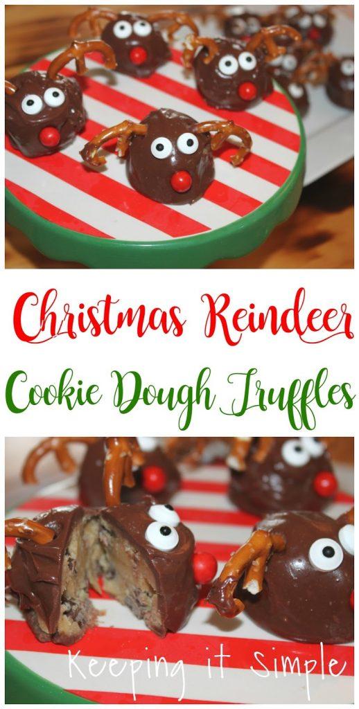 Christmas Reindeer Cookie Dough Truffles Keeping It Simple