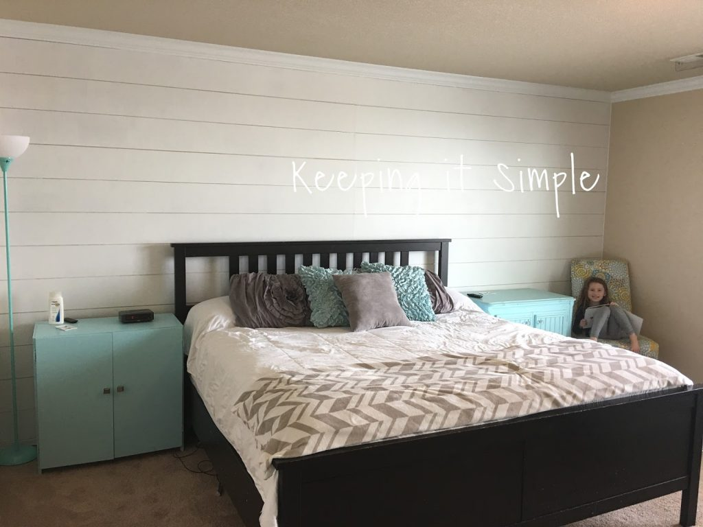 How To Build A Shiplap Wall In A Master Bedroom For 100