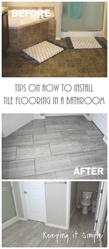Tips On How To Install Tile Flooring In A Bathroom With Ridgemont - What do you need for tile floor