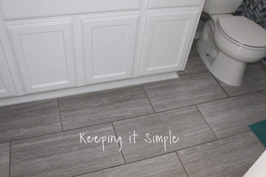 Kids Gray And White Bathroom Makeover Keeping It Simple