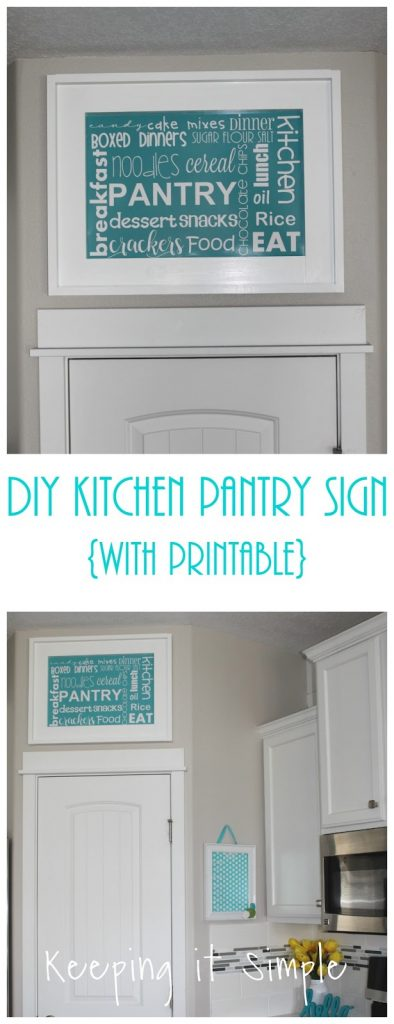 So Instead I Decided To Make A Fun Pantry Sign With Subway Art Printable Love How It Turned Out