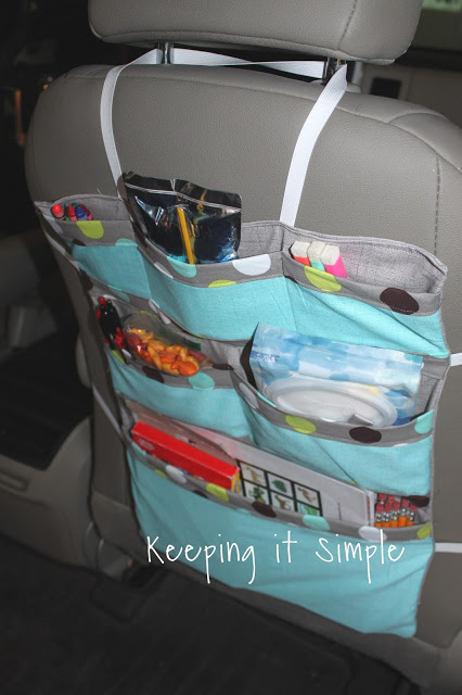 Diy Car Seat Organizer Perfect For Road Trips Keeping It Simple
