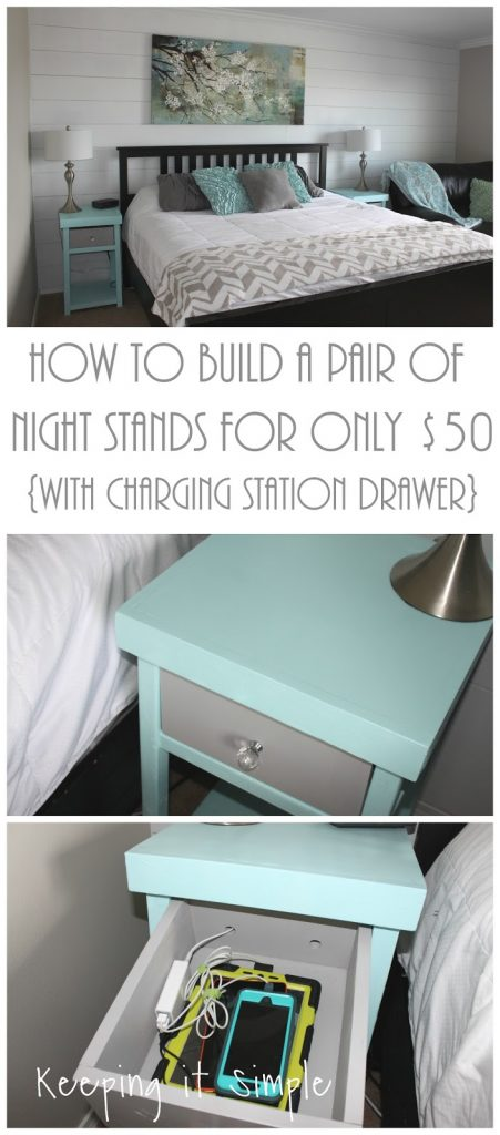Here Is What Our Bedroom And Night Stands Looked Like Before