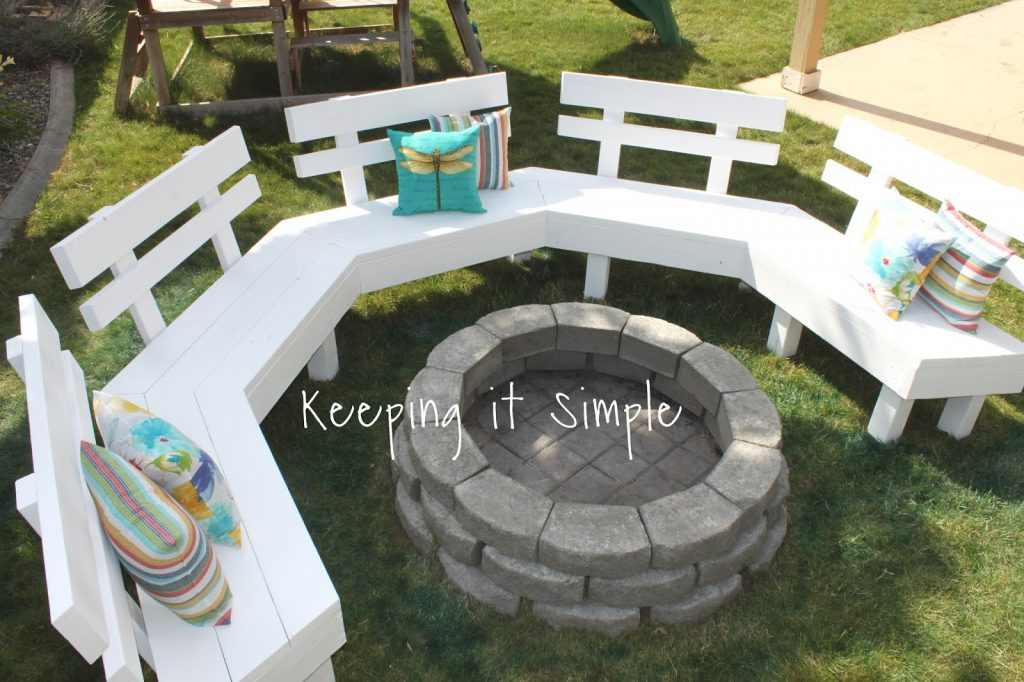 Fantastic Diy Fire Pit Bench With Step By Step Insructions Keeping Bralicious Painted Fabric Chair Ideas Braliciousco