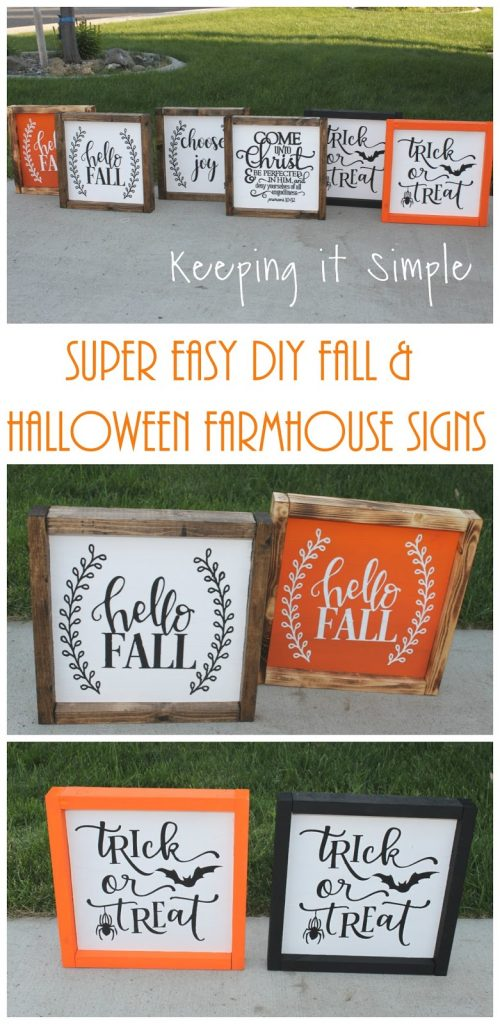 Super Easy Diy Fall And Halloween Farmhouse Signs Keeping It Simple