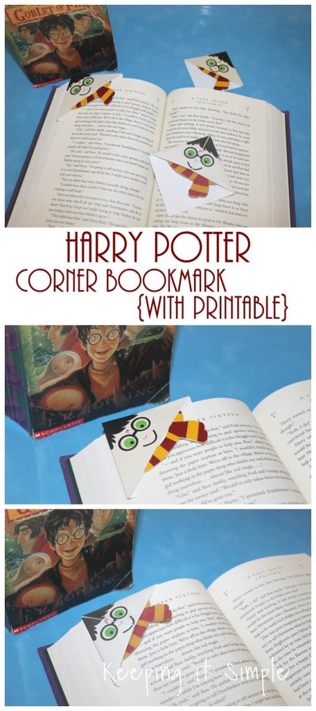 photograph relating to Printable Harry Potter Bookmarks known as Harry Potter Corner Bookmark with Printable Trying to keep it Very simple